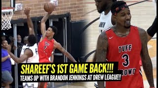 Shareef O'Neal Teams Up w/Brandon Jennings in FIRST GAME BACK at the Drew League!!