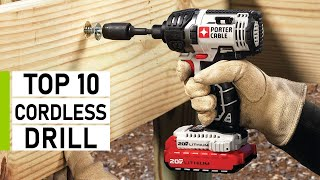 Top 10 Best Cordless Drill For DIY & Woodworking