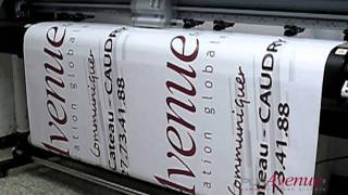 Bache publicitaire grand format 150 x 300 cm