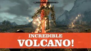 Skyrim SE - Incredible Volcano spell! (Apocalypse mod)
