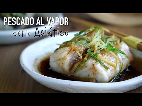 Pescado al vapor estilo asiatico - Asian Style Steamed Fish l Kwan Homsai