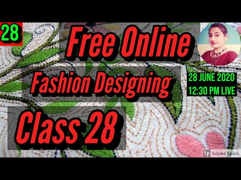 Free Fashion Designing Online Courses With Certificate Class 28 ...