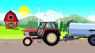 Мультфильмы. Вася Пьяточкин - выращивание картофеля на ферме.