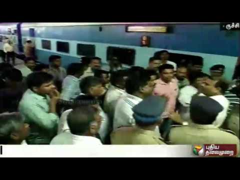 Altercation-between-ticket-examiner-and-a-passenger-leads-to-protest-by-TTEs-at-Trichy-station