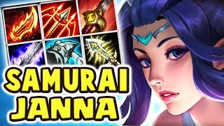 JANNA HAS A SWORD NOW?! NEW SKIN SACRED SWORD JANNA JUNGLE   FULL AD WHY DOES THIS WORK?? Nightblue3