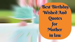 Cute Birthday Wishes and Quotes for mother in law 2021| Maroof dahar