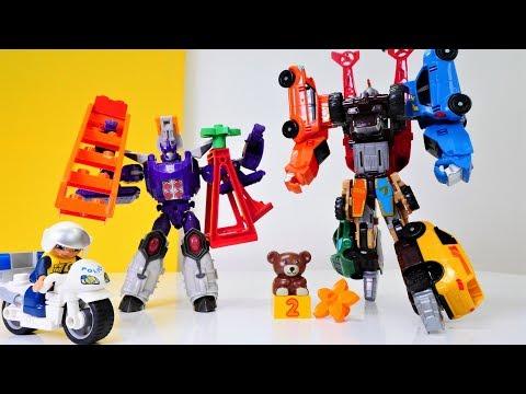 Giga Tobot gegen Galvatron - Welcher Roboter ist stärker? - Spielzeugvideo für Kinder