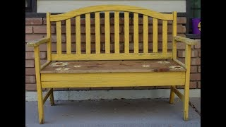 Old Furniture Make Over:  How To Redo A Vintage Bench