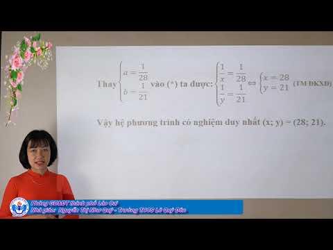 Toán 9: Chuyên đề hệ phương trình