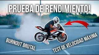 Pongo La Moto AL LÍMITE Antes Del Banco De Pruebas!!📈 Burnout BRUTAL!
