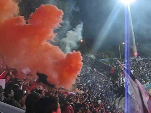 """14.Sep.2009: Salida Colo-Colo vs Everton"" Barra: Garra Blanca • Club: Colo-Colo"