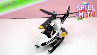 Playmobil polizei helikopter unboxing und Aufbau - Playmobil Polizeihubschrauber -  City Action