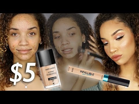 DRUGSTORE ACNE COVERAGE MAKEUP! Making Cheap Products WORK!