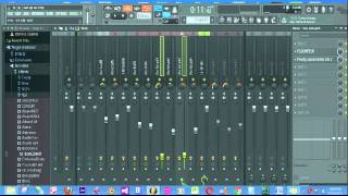 How to move fl studio mixer faders together