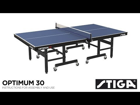 Stiga Optimum 30 Indoor Table Tennis Table Assembly