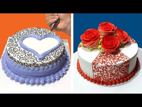 Ideias de decorao de bolo para o fim de semana Tutorial de decorao de bolo
