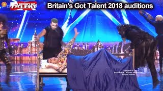 Magus Utopia Illusionist AWESOME NIGHTMARE ACT Auditions Britain's Got Talent 2018 BGT S12E03