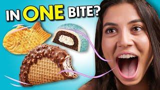 Eat In One Bite Challenge - Dessert Edition | People Vs Food