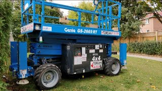 How to start Genie GS-2669 RT Scissor lift