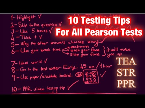 10 Testing Tips for All Pearson Tests - TEA, PPR, STR, etc. - YouTube