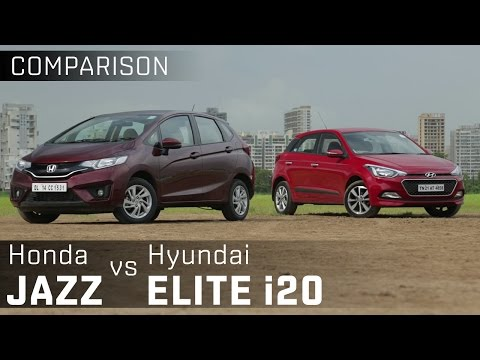Honda Jazz vs Hyundai i20 Elite :: Premium Diesel Hatchback Comparison :: ZigWheels