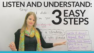 LISTENING & UNDERSTANDING in 3 Easy Steps
