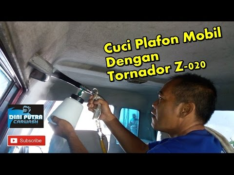 Video Cuci Atap Plafon Mobil dengan menggunakan Tornador cleaning tools