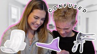 Quizzing My Boyfriend On Female Products!! Alyssa + Dallin