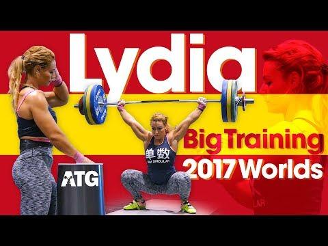 Lydia Valentin Heavy Training Session (115kg Snatch / 142kg Clean & Jerk!) 2017 World Championships
