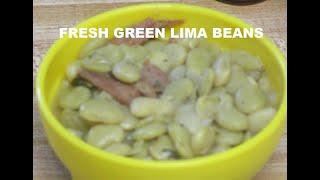 Cooking FROZEN Green Lima Beans
