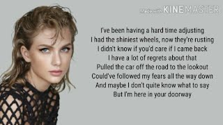 Taylor Swift - This is me trying lyrics