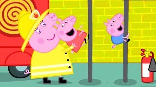 Peppa Pig Official Channel | Peppa Pig's Fire Engine Practice with Mummy Pig