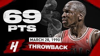 NBA Throwback: Michael Jordan EPIC Career-HIGH 69 Points Highlights vs Cavaliers | March 28, 1990
