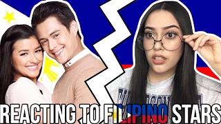 REACTING TO FILIPINO STARS