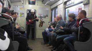 Kyiv street musicians subway (metropoliten)
