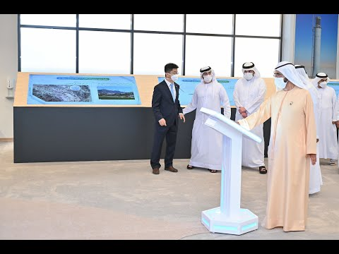 His Highness Sheikh Mohammed bin Rashid Al Maktoum - Mohammed bin Rashid inaugurates 300MW first stage of the fifth phase of the Mohammed bin Rashid Al Maktoum Solar Park