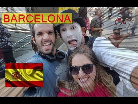 #97 - Barcelona - Espanha (La Rambla, rua do atentado terrorista/Casa Milà) - Intercâmbio na Irlanda