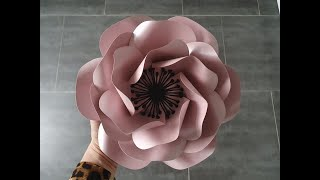 Paper Flower Tutorial Template #99. Easy Flower Tutorial. Diy Paper Flowers. Diy Rose Tutorial