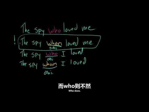 Who跟Whom的用法 (視頻) | 關系代詞 | 可汗學院