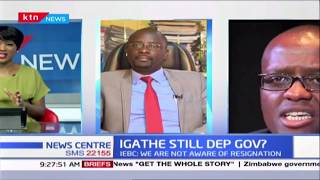 IEBC shocks the nation,says they are not aware of Igathe\'s resignation as Sonko\'s deputy