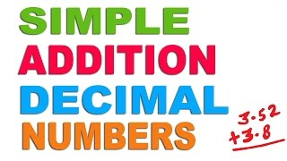 Addition of Decimal Numbers - Hindi (2016)