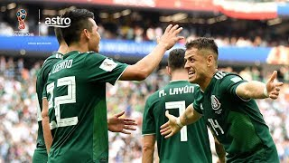 A Hirving Lozano goal caused the biggest upset of the World Cup so far, when Mexico edged Germany.   Subscribe / Upgrade to Sports Pack: http://bit.ly/2HU3eUx   ✔ Subscribe to Stadium Astro on YouTube: http://bit.ly/2Cfsg8O ✔ Watch Stadium Astro on Astro Go: http://bit.ly/2nW6bIJ   Get more Stadium Astro on YouTube: ► Man On The Street: http://bit.ly/2EkOyIr ► League of Legends: http://bit.ly/2EkEzTf ► Sportify: http://bit.ly/2nTkRrv ► Wishlist: http://bit.ly/2H7TjGV ► For Fans Only: http://bit.ly/2H9xsiy ► Small World: http://bit.ly/2G6VQ2F ► Seriously Series: http://bit.ly/2G5Lv7b ► Prank You Very Much: http://bit.ly/2EolV0Y ► B4KO Exclusive: http://bit.ly/2nT7vLM ► Express: http://bit.ly/2BUZ1N6 ► EPL Highlights: http://bit.ly/2nVHI5K ► EPL Live: http://bit.ly/2nVYRw4   Stadium Astro on Social Media: ► Follow on Twitter: http://www.twitter.com/stadiumastro ► Like on Facebook: http://www.facebook.com/stadiumastro ► Follow on Instagram: http://www.instagram.com/stadium.astro   Visit Stadium Astro on YouTube to get up-to-the-minute sports news coverage, scores, highlights, commentary for EPL, UCL, NBA, WWE and original programming.   More on Stadium Astro: http://www.stadiumastro.com