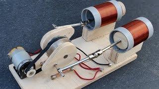 Free Energy Generator Using Double Cylinder Solenoid Engine