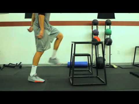 Plyometric 3 Single Leg Box Jumps