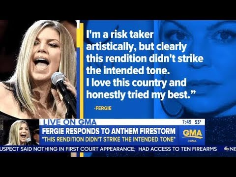 FERGIE Apologizes For Sexy Rendition Of The National Anthem - GMA