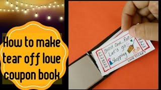 How To Make A Tear Off Love Coupon Book | Valentines Day - 117