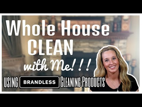 WHOLE HOUSE🏡 CLEAN with ME using BRANDLESS Cleaning Products
