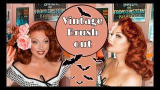 Vintage Hair Brush Out Tutorial