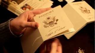 Vanessas Destination Wedding Invitations - How To Assemble Your Passport Wedding Invites!