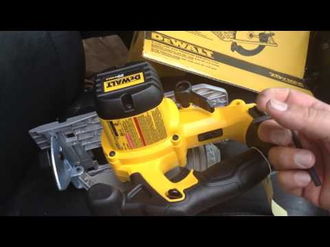 Dewalt 20v Circular Saw DCS391 Product demonstration and review